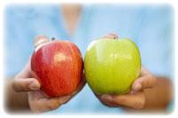 кому дать яблоко