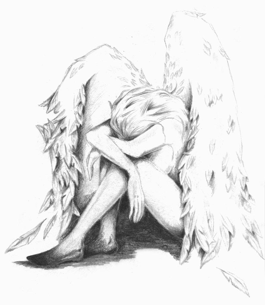 картинки карандашом ангелы, графические рисунки. картинки карандашом ангелы, нарисованные картинки ангелы чёрно-белые.